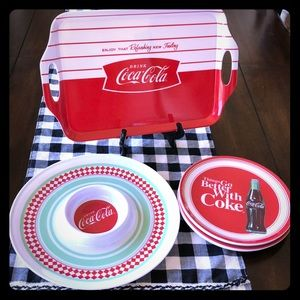 Coca Cola NWT Serving Set by Gibson